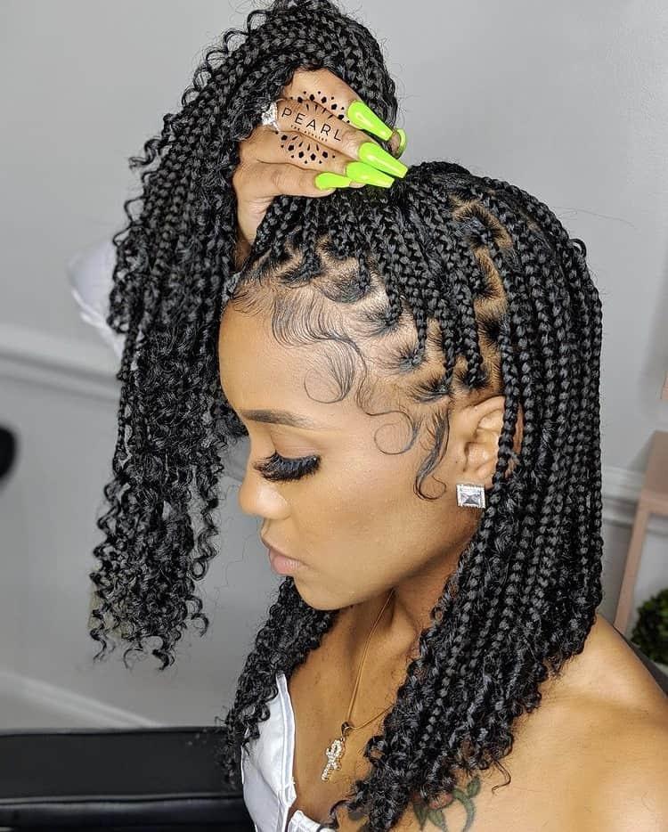 bob knotless braids
