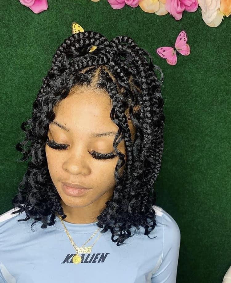 bob boho knotless box braids