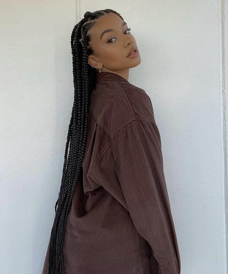 long knotless box braids