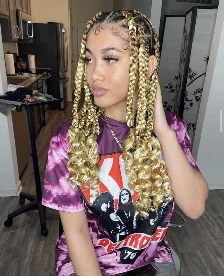 Blonde coi leray braids