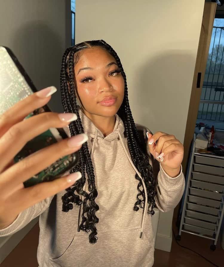 Kirah Dominique coi leray inspired braids