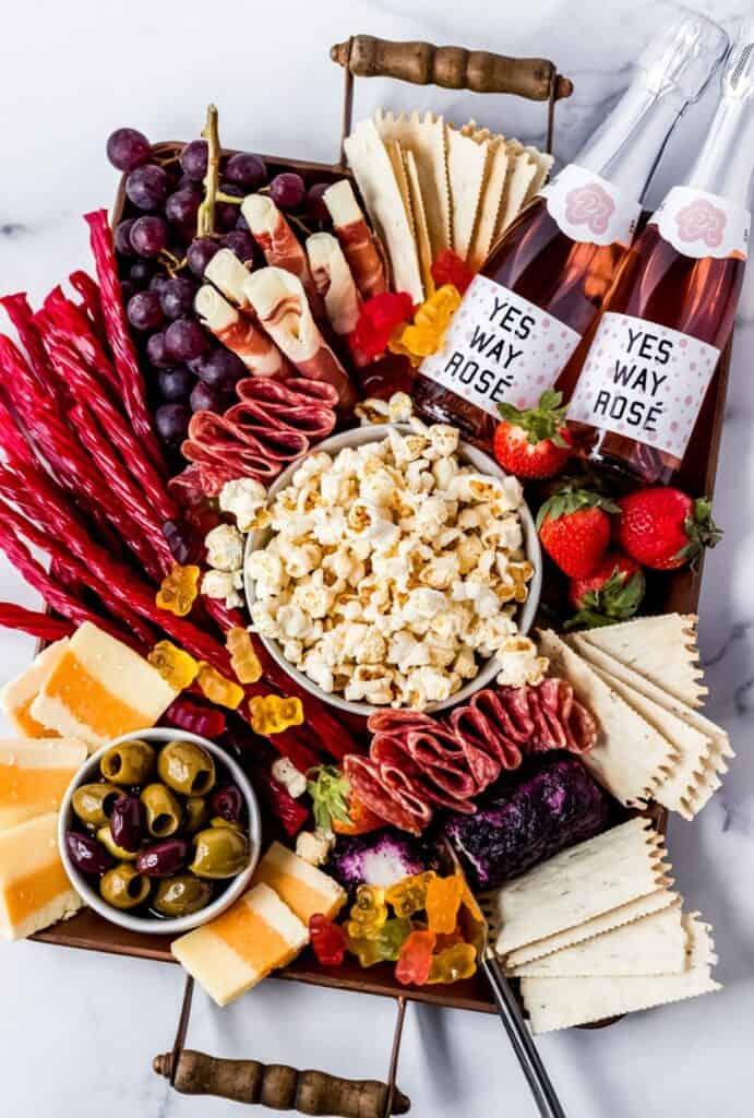 date night/picnic charcuterie board