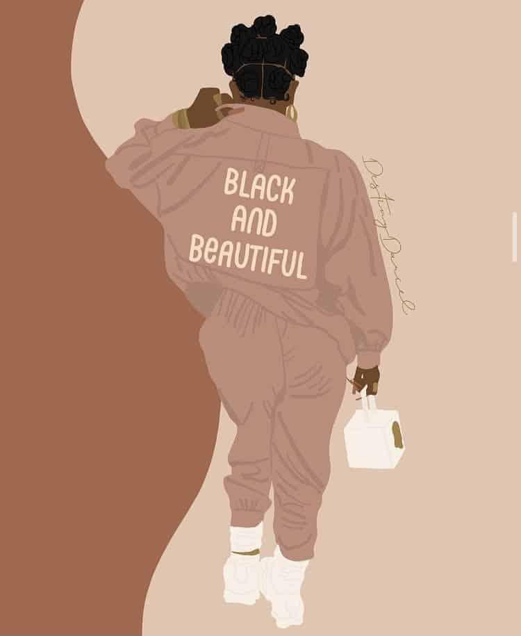 Black and beautiful illustration art