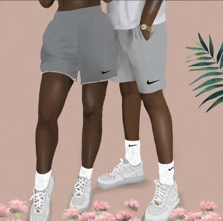 nike shorts art