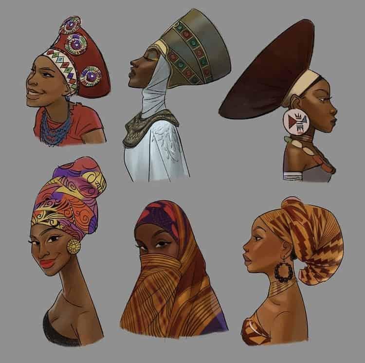 African women head regalia