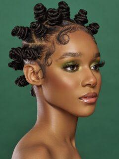 Bantu knots styles on natural hair, braids and locs