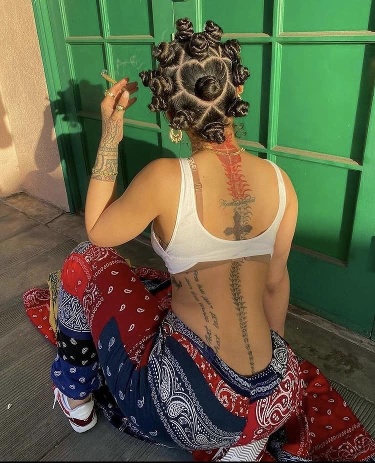 Bantu knots india love