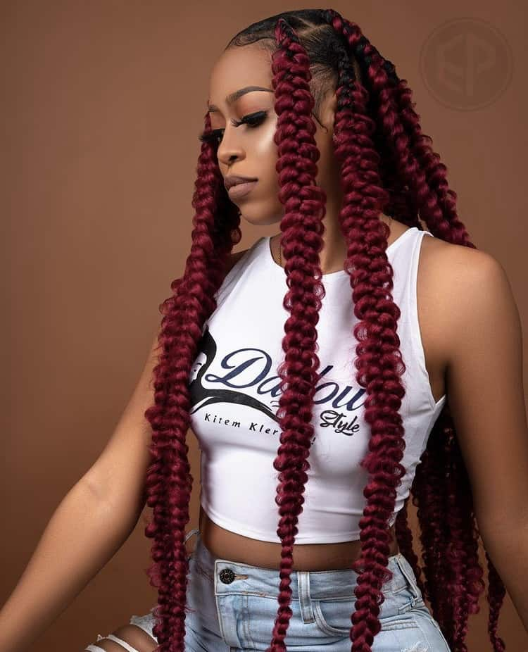 passion butterfly braids