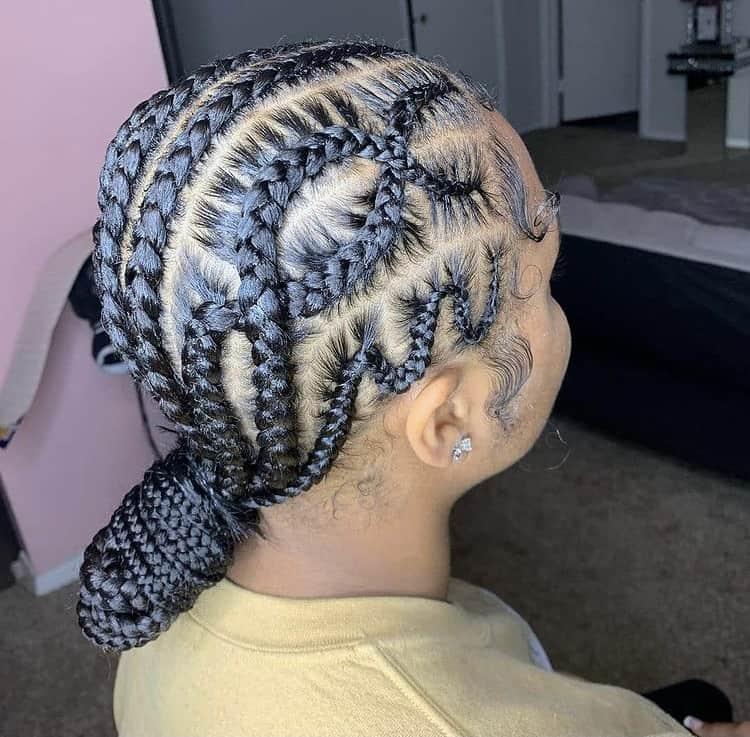 criss cross stitch braids