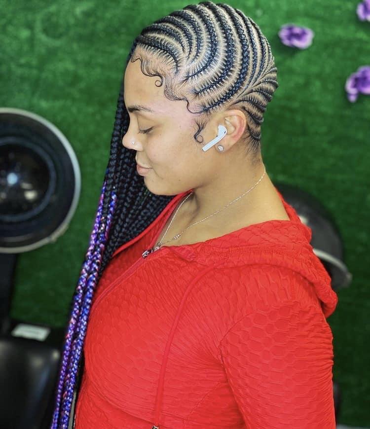 lemonade stitch cornrow braids
