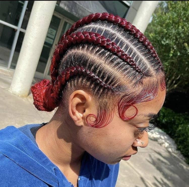 red stitch braids
