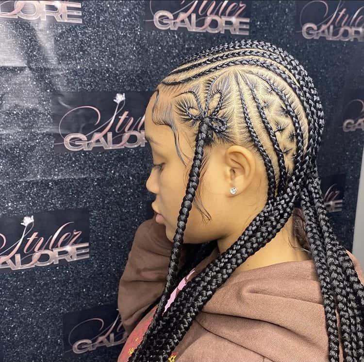 stitch braids star design