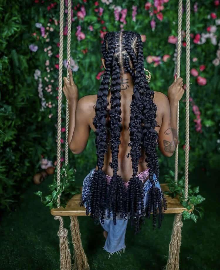 cris cross stitch butterfly braids
