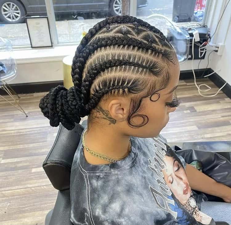 stitch cornrow braids